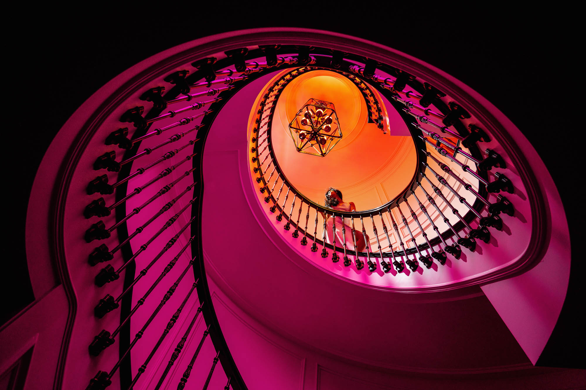 Lex & Josh Grand Colour Staircase Portrait Shoot-5.jpg