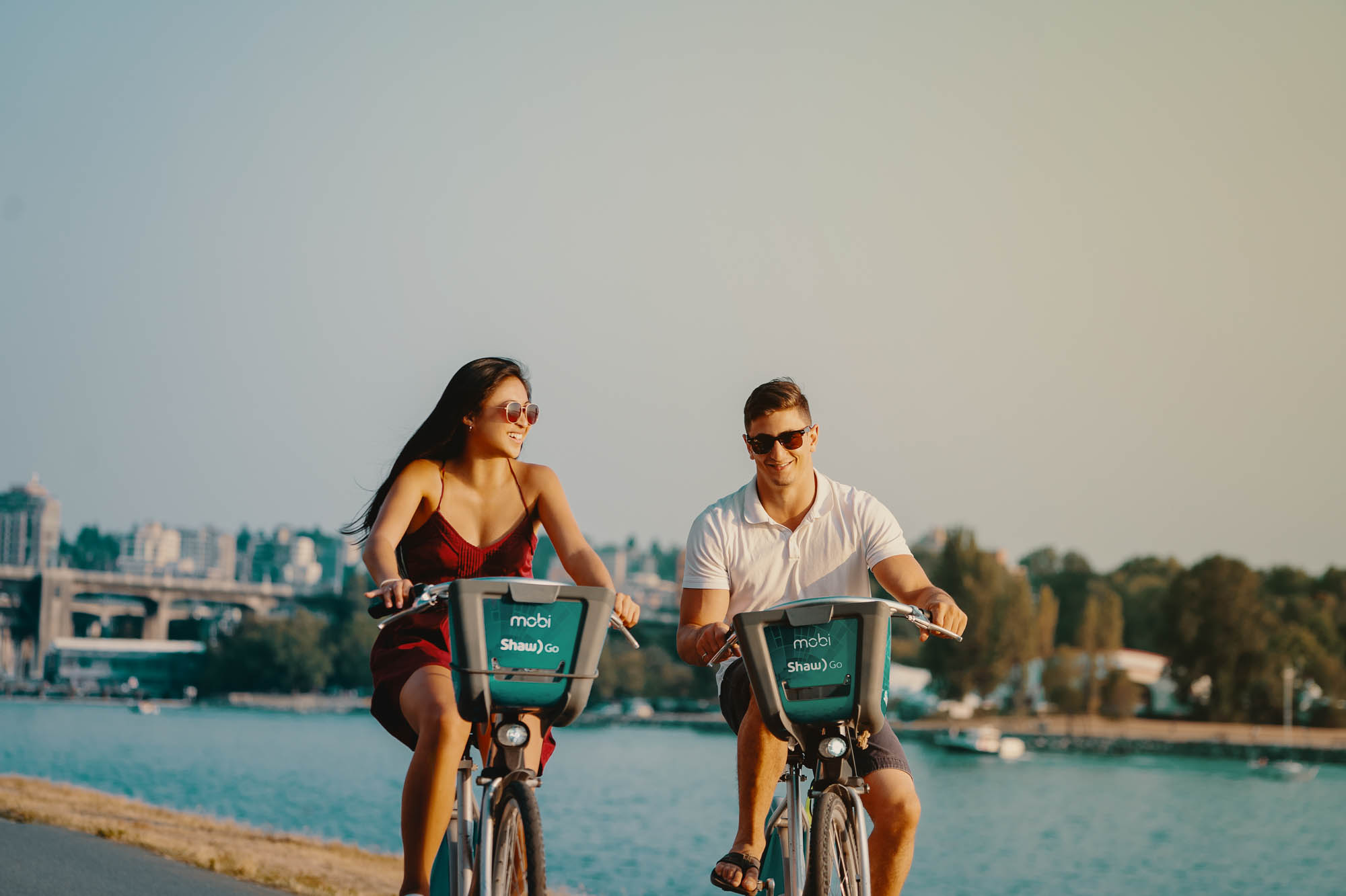Lex & Josh Devy & Michelle Editorial Shoot Beach Ice Cream Bicycle Stanley Park-9.jpg