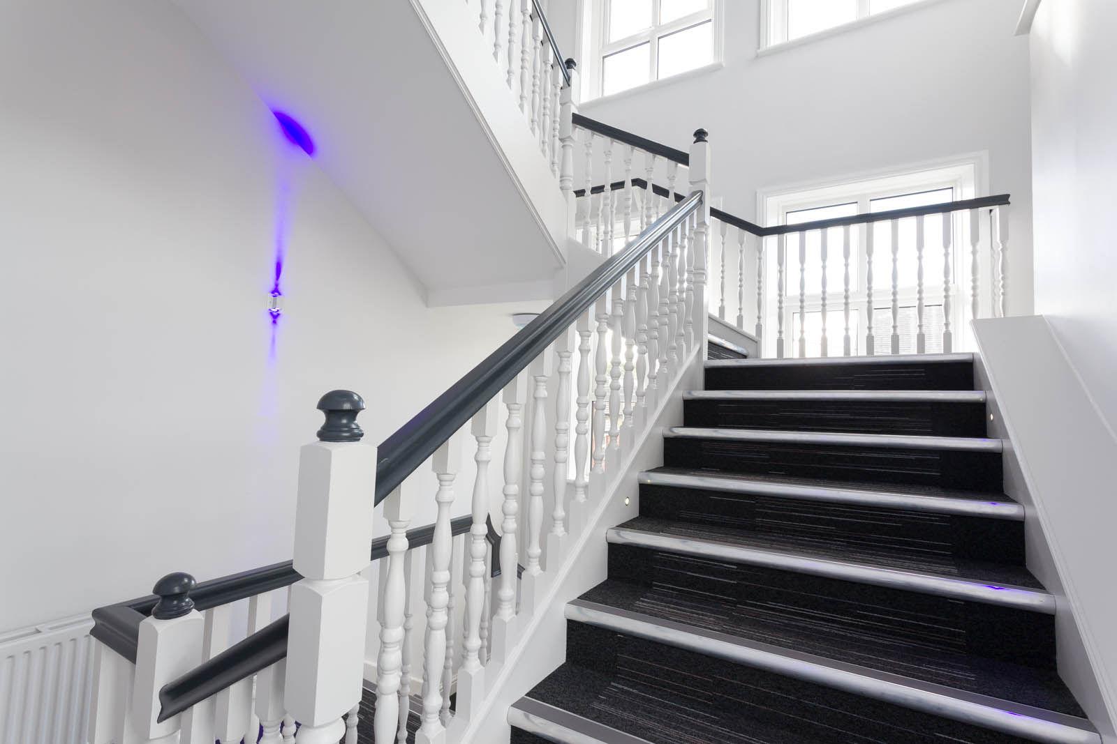 stairway of an office in morley leeds