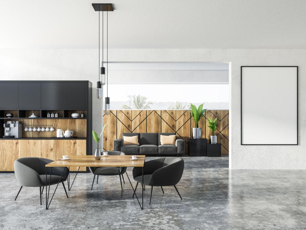 Urban Eco - Durch die Kombination von klassischem und modernem Bürodesign mit natürlichen Akzenten, entsteht eine angenehme und professionelle Arbeitsumgebung, die Kunden und Mitarbeiter gleichermaßen zu schätzen wissen.