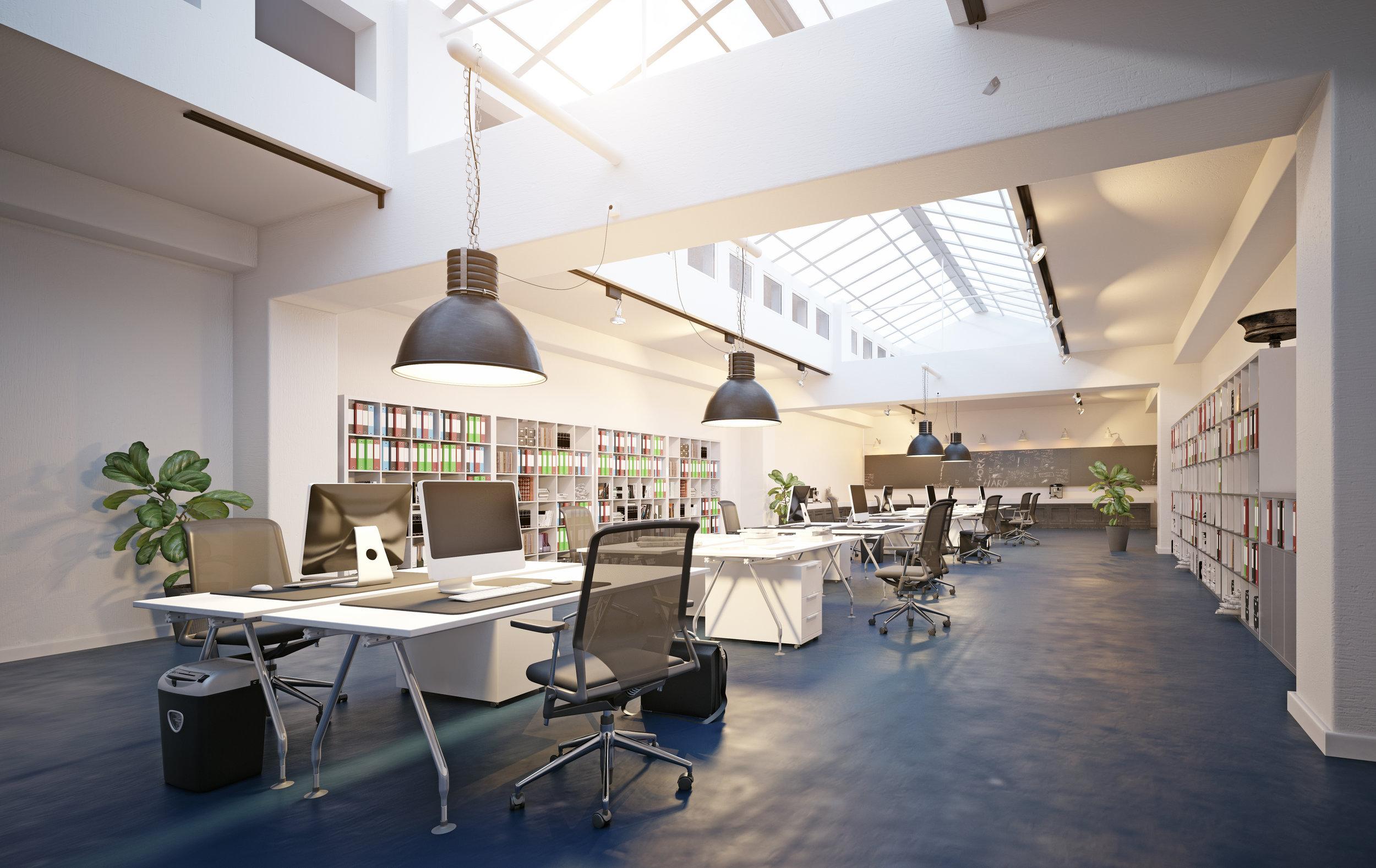 Modern Elegance - Eine harmonische Farbpalette mit ausgewählten Kontrasten und eleganten, modernen Möbeln macht diesen Stil zu einem gern gesehen Design in der Bürolandschaft.