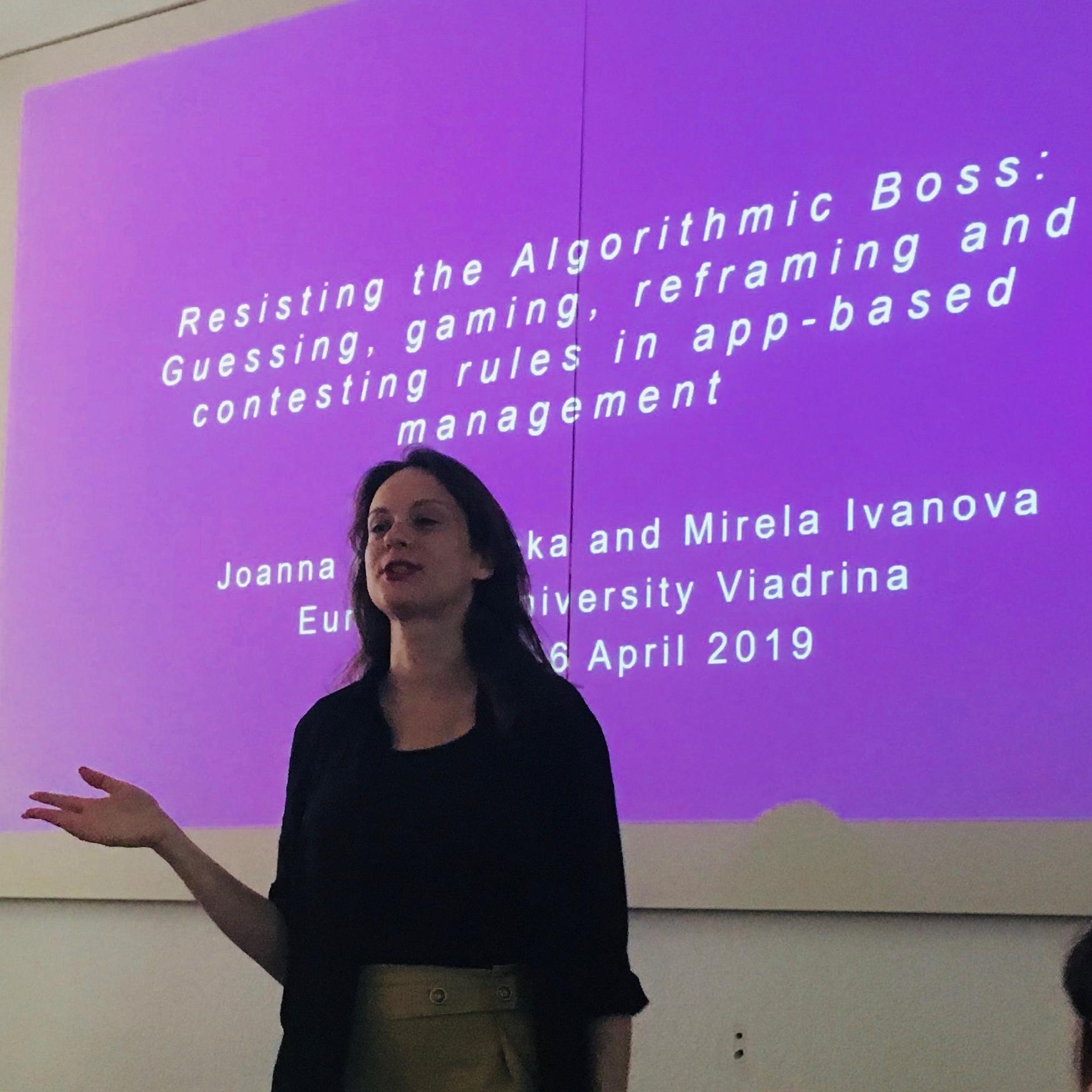 Zdjęcie: Konferencja naukowa International Labour Process Conference, Wiedeń, kwiecień 2019r.