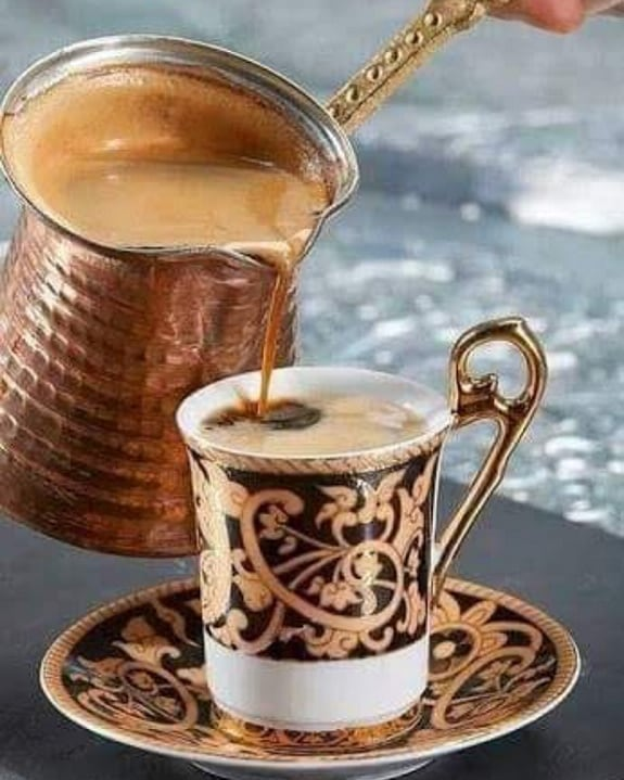 Stop in on this rainy day & enjoy a cup of Turkish coffee! Happy Friday everyone! ☕ #broadripplevillage #canalbistro #mediterraneanfood #turkishcoffee #onthecanal #eathereindy