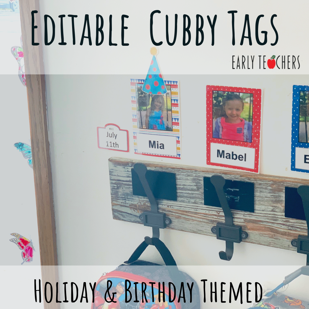 Cubby Tags And Name Plates - Click Here To Download