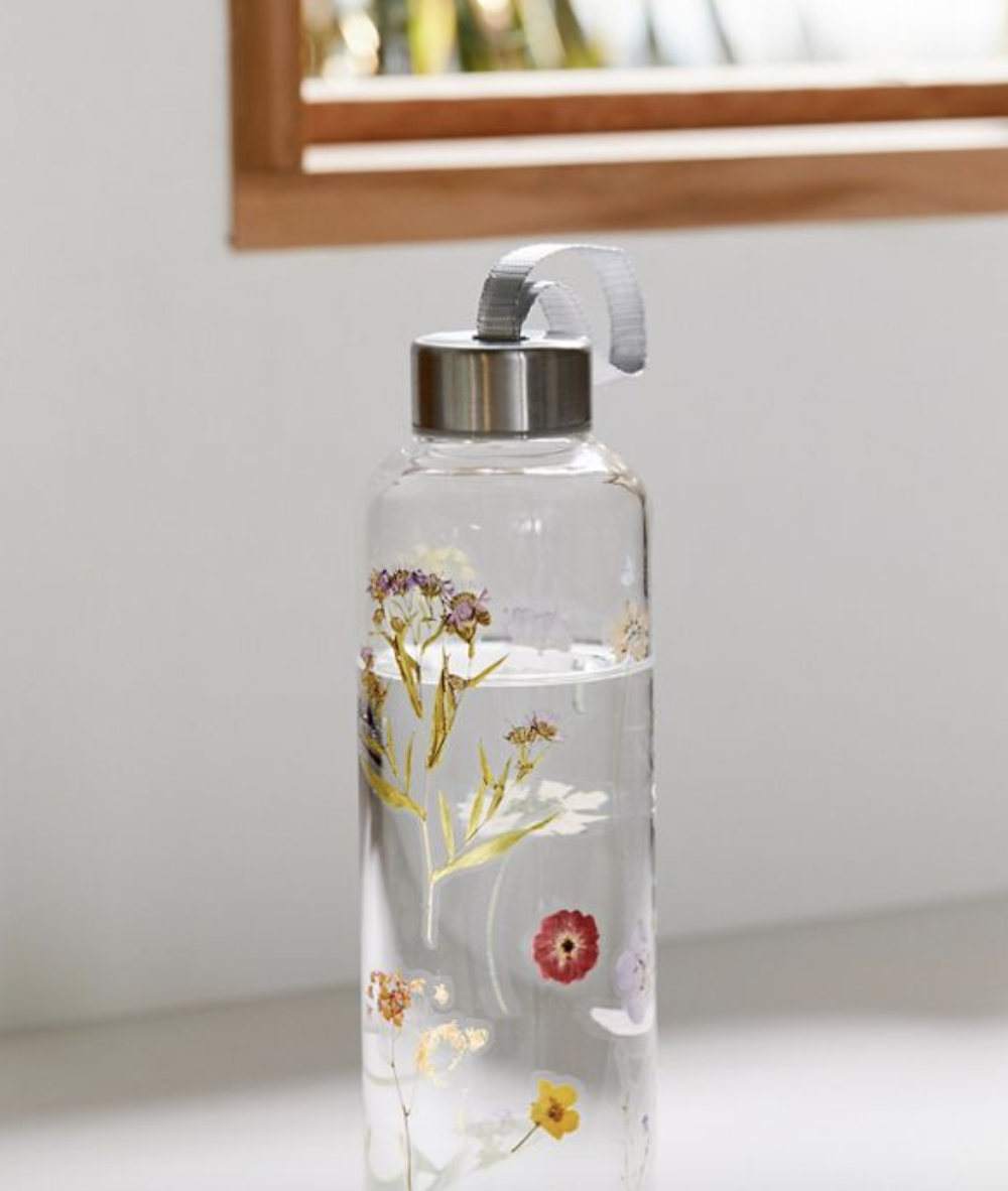 Printed Glass Water Bottle | Urban Outfitters