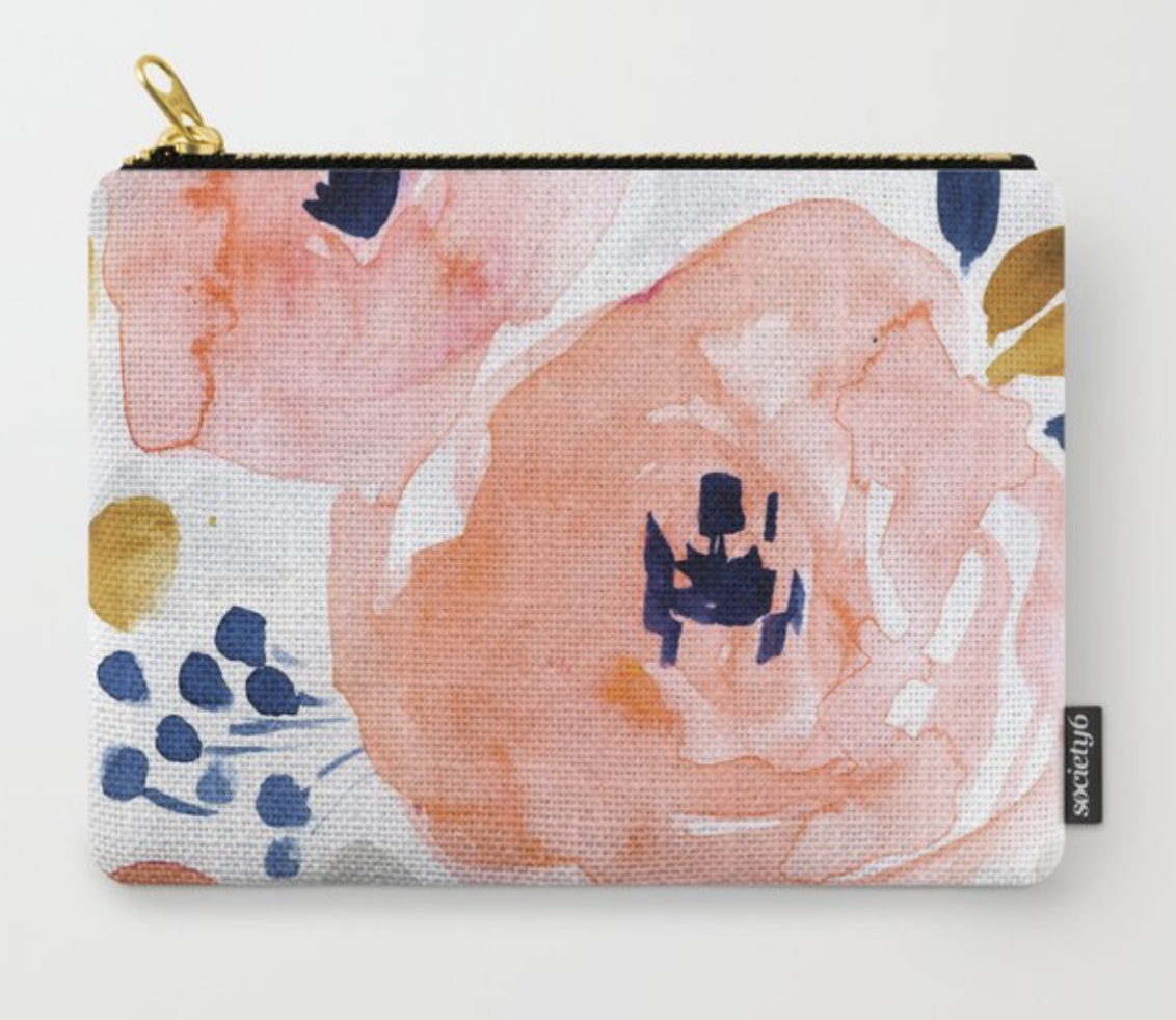Genevieve Floral Carry All Pouch