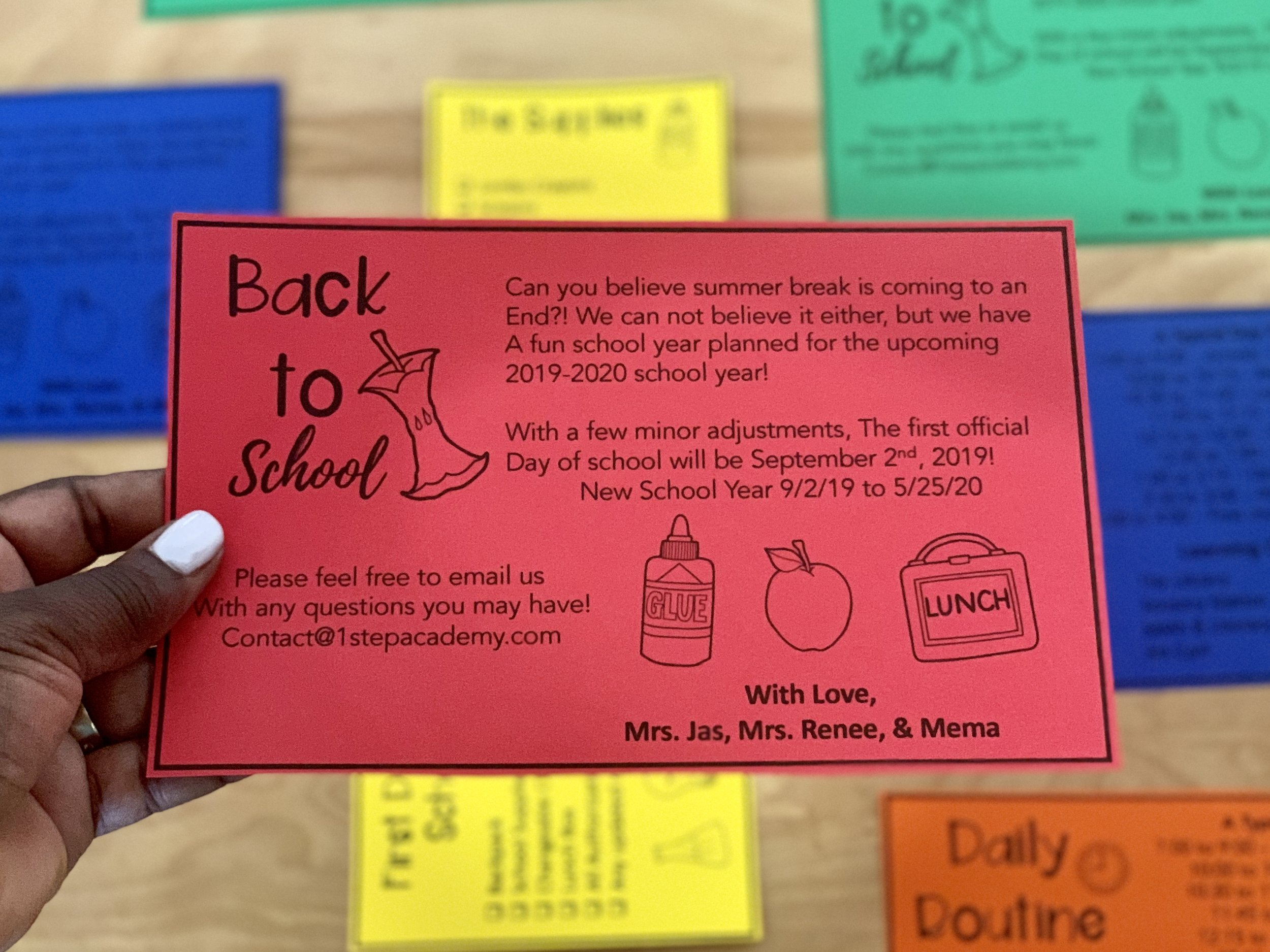 FREE Back To School Letters