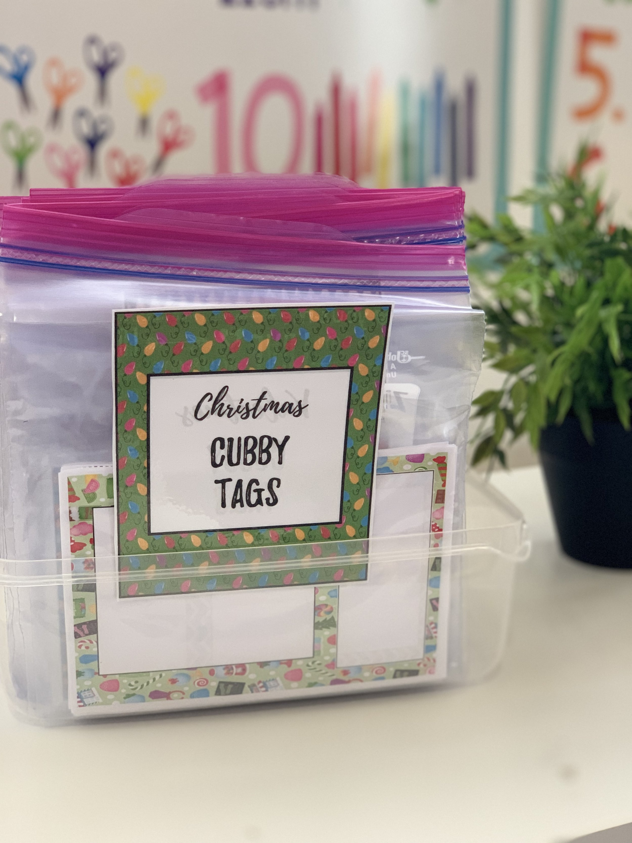 Cubby Tag Label FREEBIE | Early Teachers