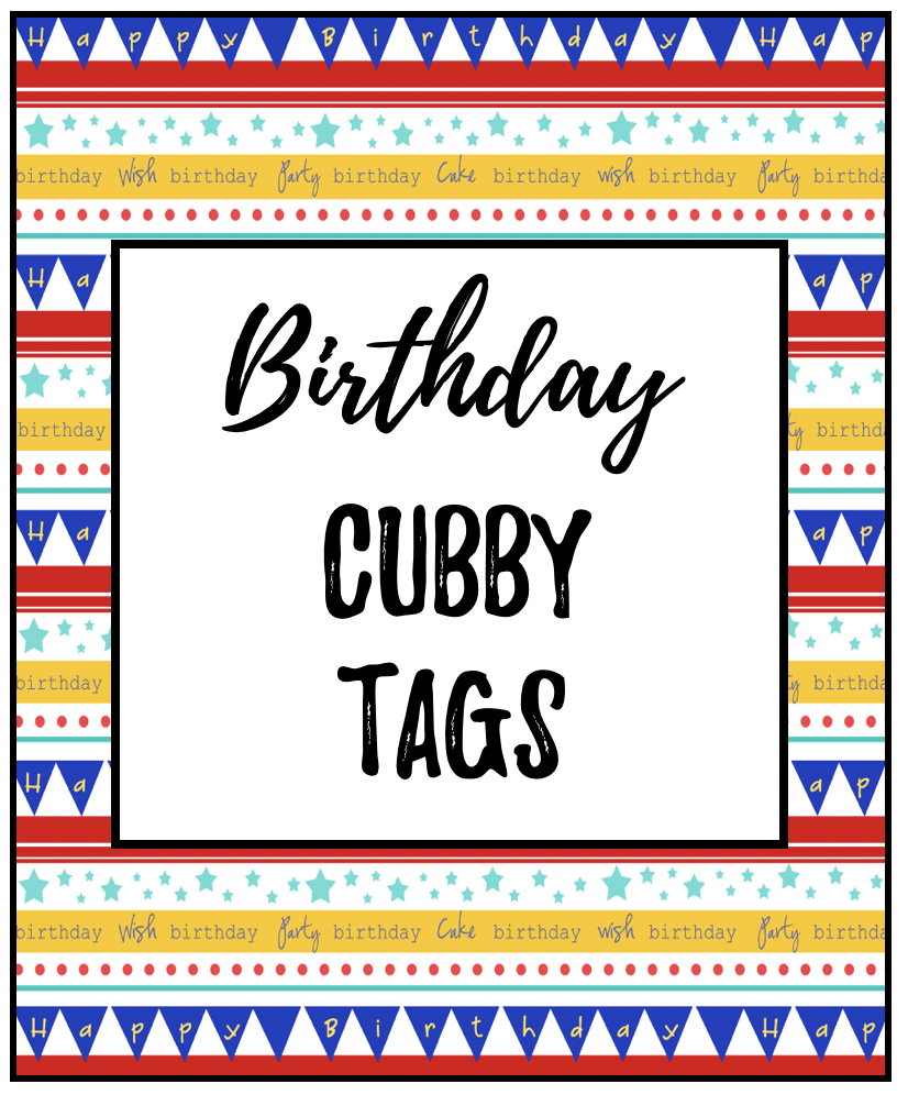 Cubby Tag Labels | Early Teachers