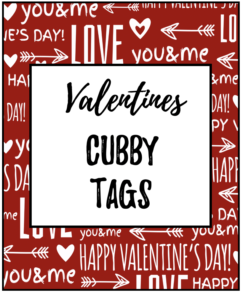 Cubby Tag Labels FREEBIE | Early Teachers