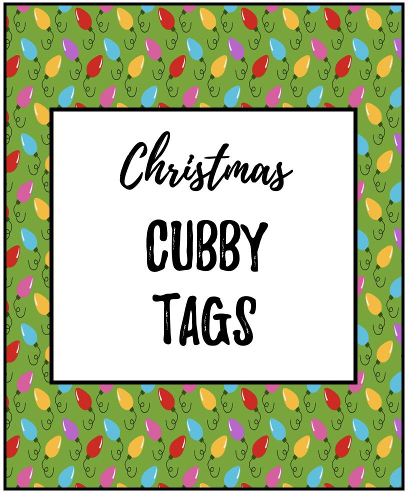 Cubby Tag Labels FREEBIE