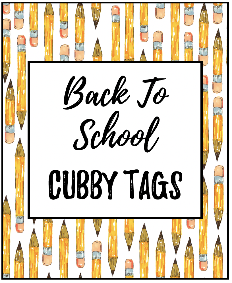 Cubby Tags Labels | Early Teachers