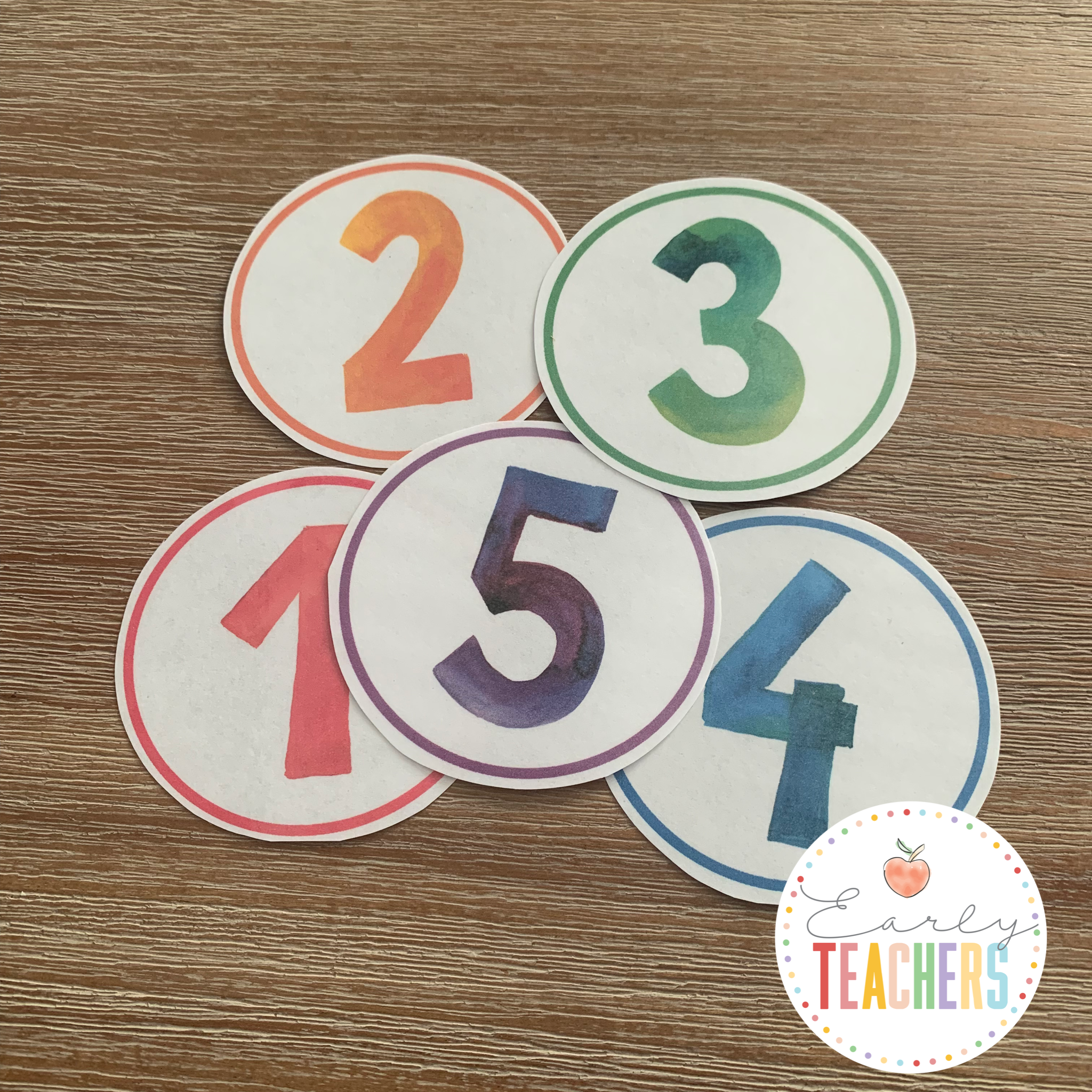 Round Circle Time Calendar Numbers