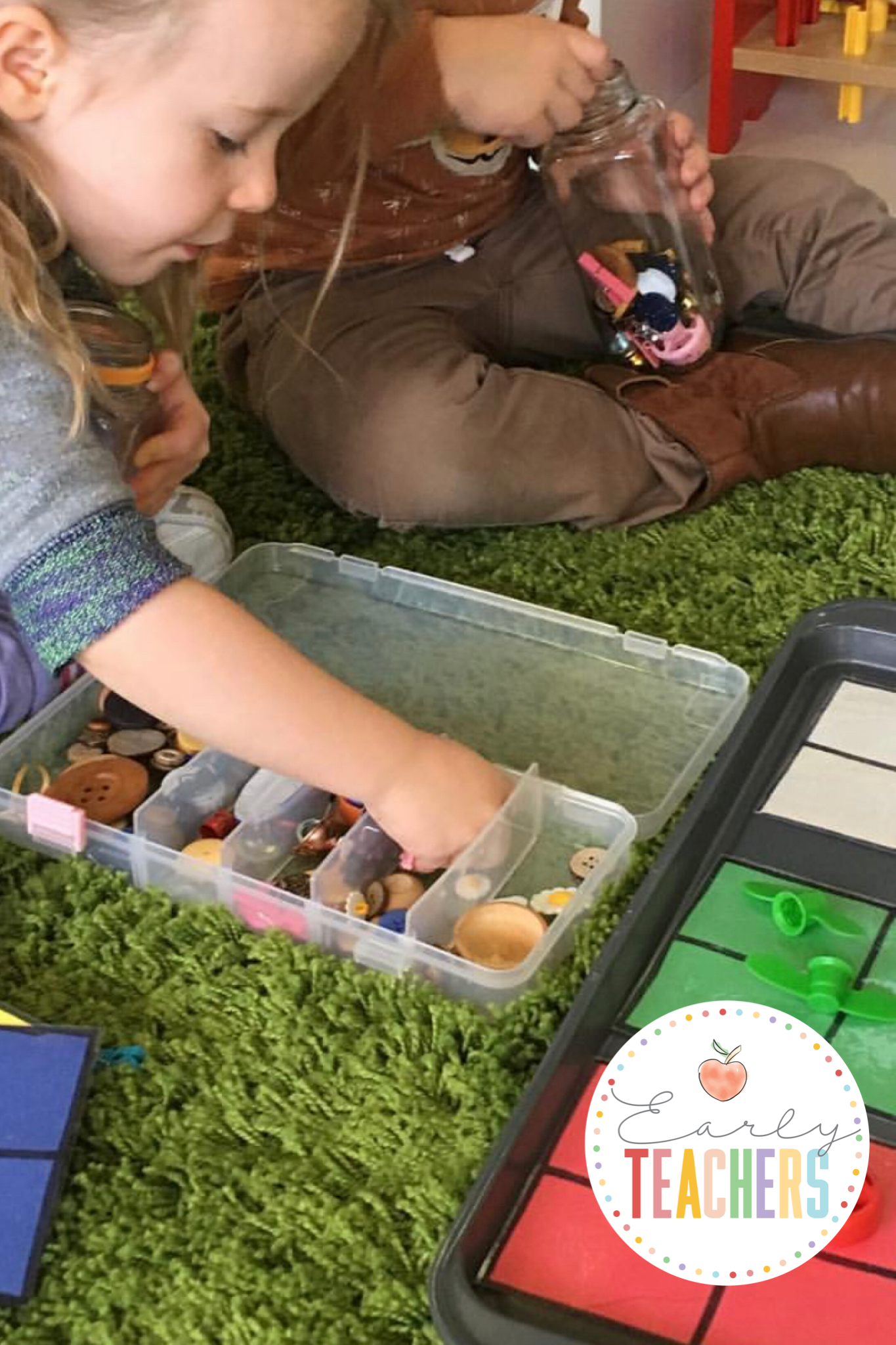 Loose Parts Color Sorting - Early Teachers
