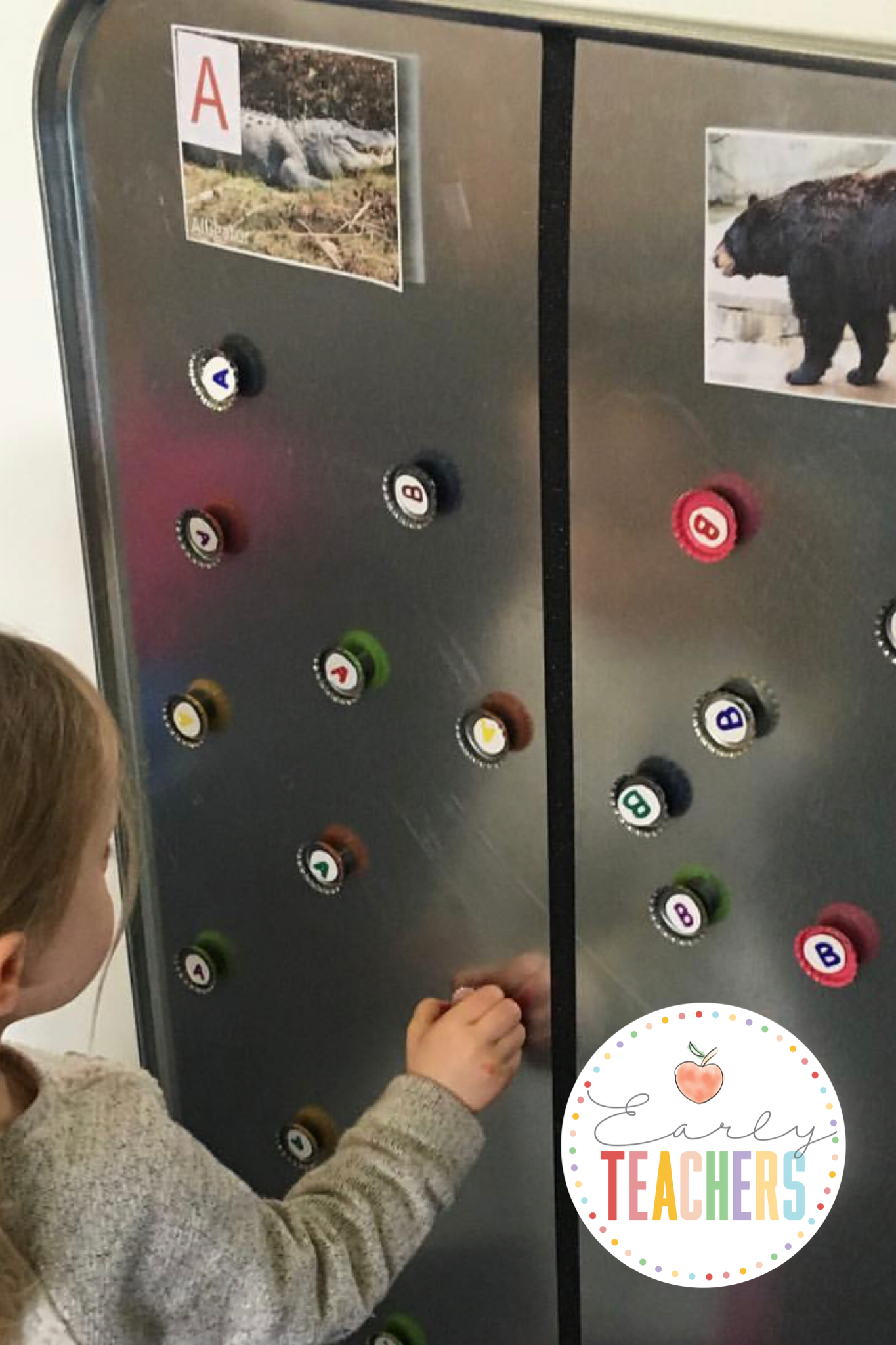 Alphabet Sorting With Magnetic Drip Boards