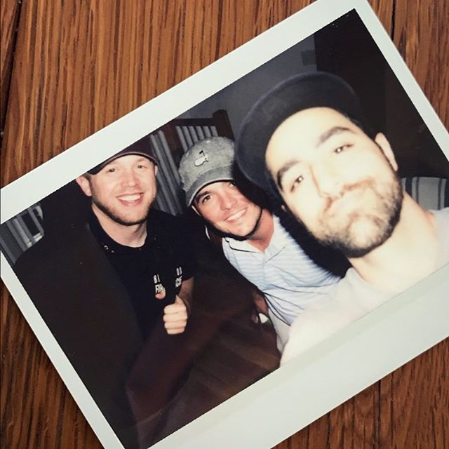 @paulblg coming in clutch with that Pinterest-esque idea of a Polaroid of each write at his new studio. Congrats on the new place, brother! Now I want a Polaroid camera. @coletaylormusic #IHeardYouDontReallyNeedToShakeThem