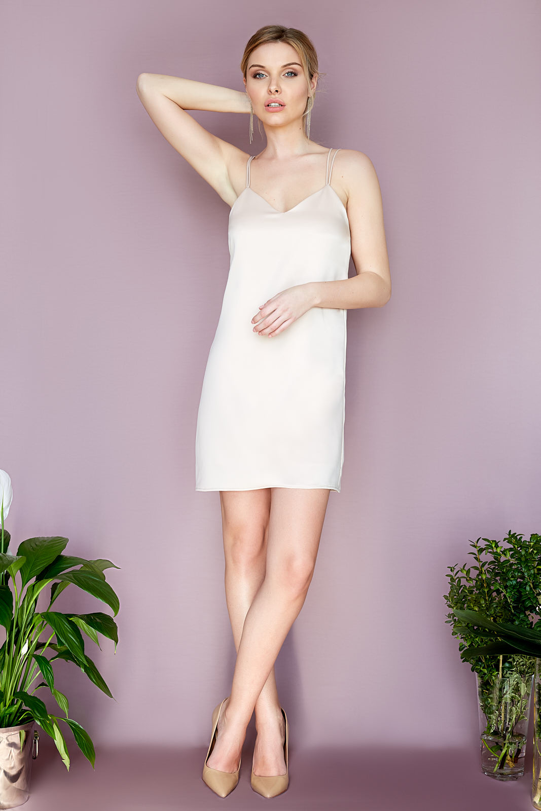 Rose Nude Party Dress