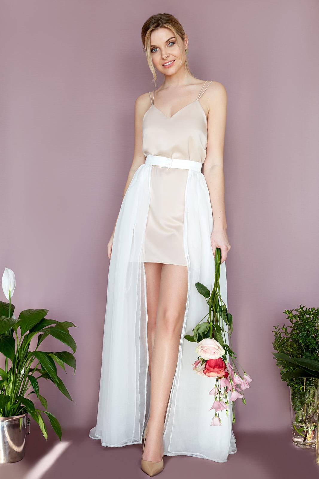Party Dress  & Silk Gauze Overskirt