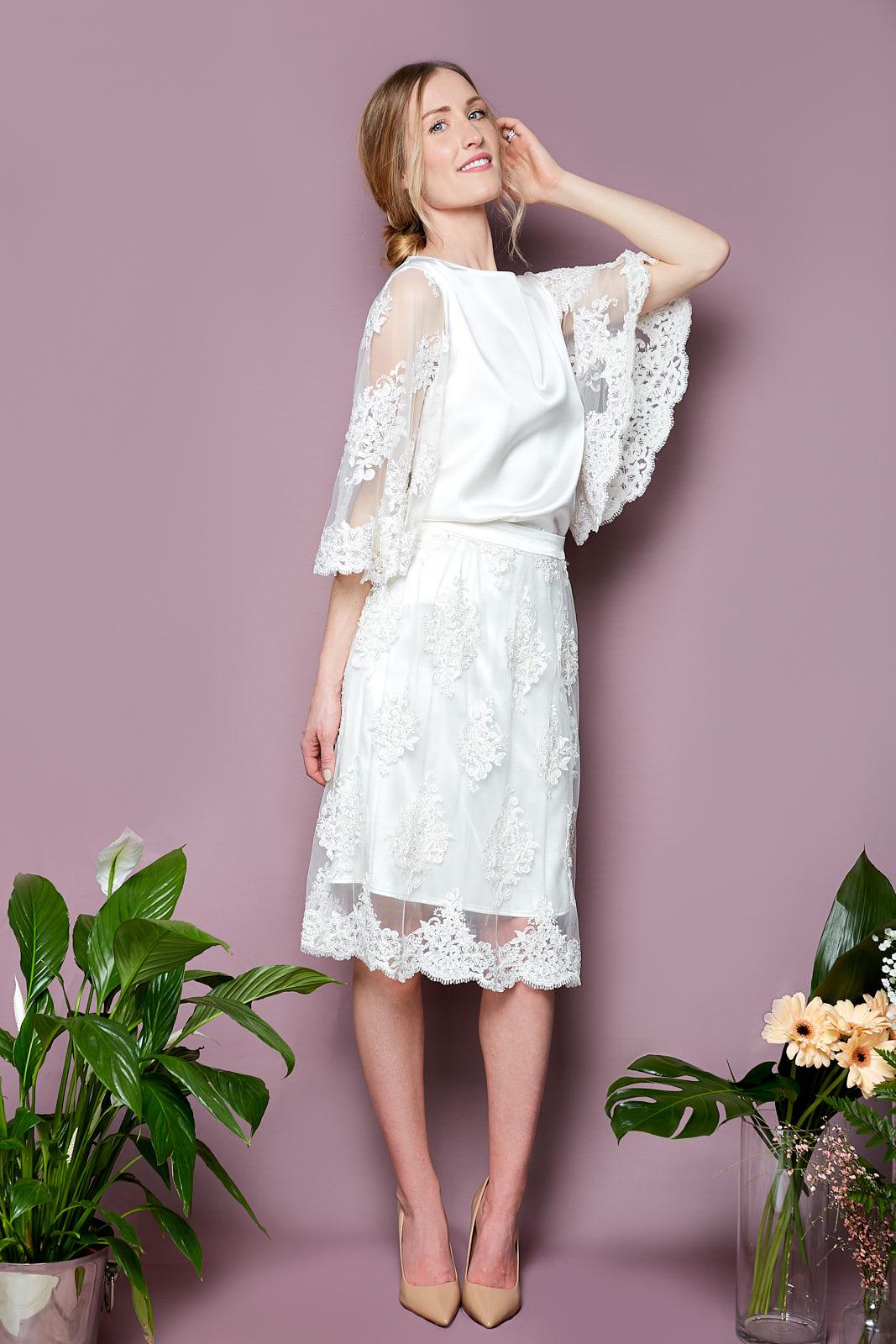 Papillon Top & Midi Skirt