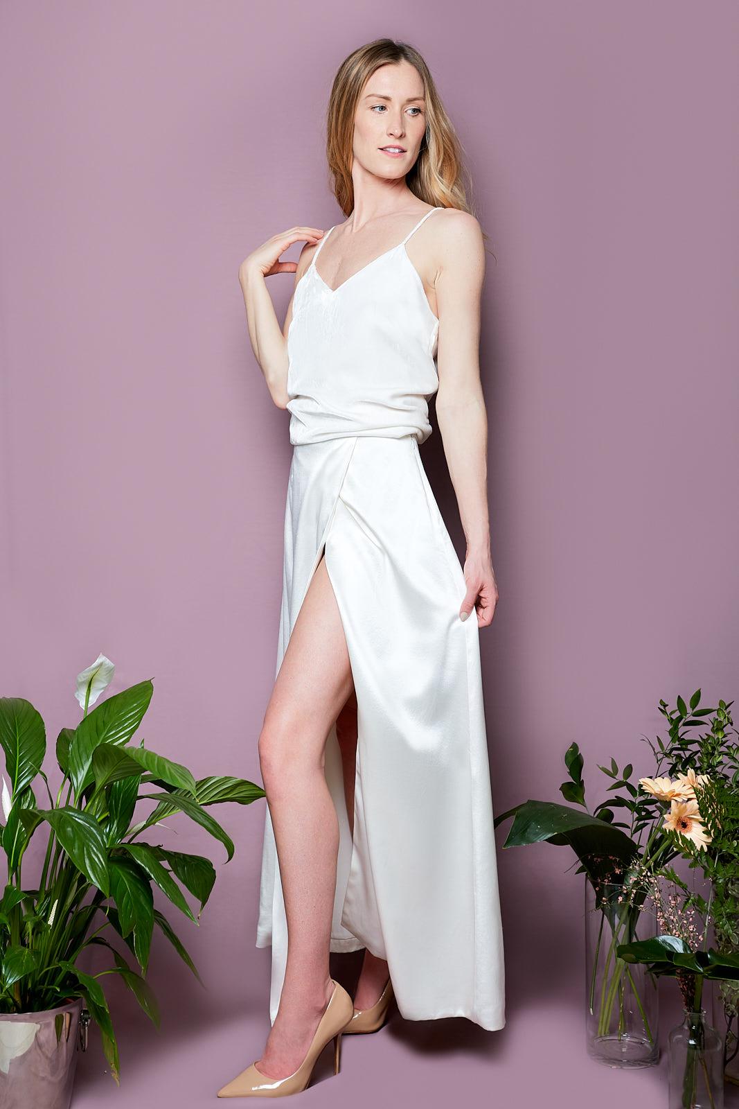 Silk Velvet Cami & Envelope Skirt