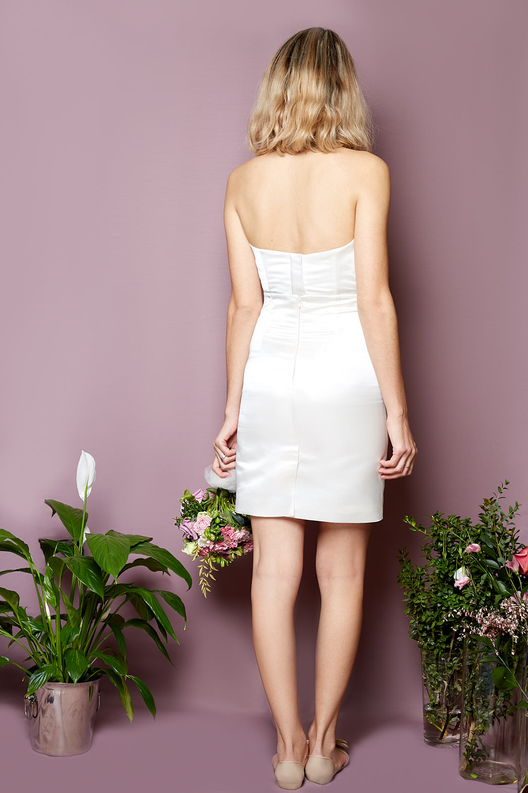 ALBA Bustier & Pencil Skirt  Bustier & Pencil Skirt in Duchesse Satin, lined in Silky Viscose