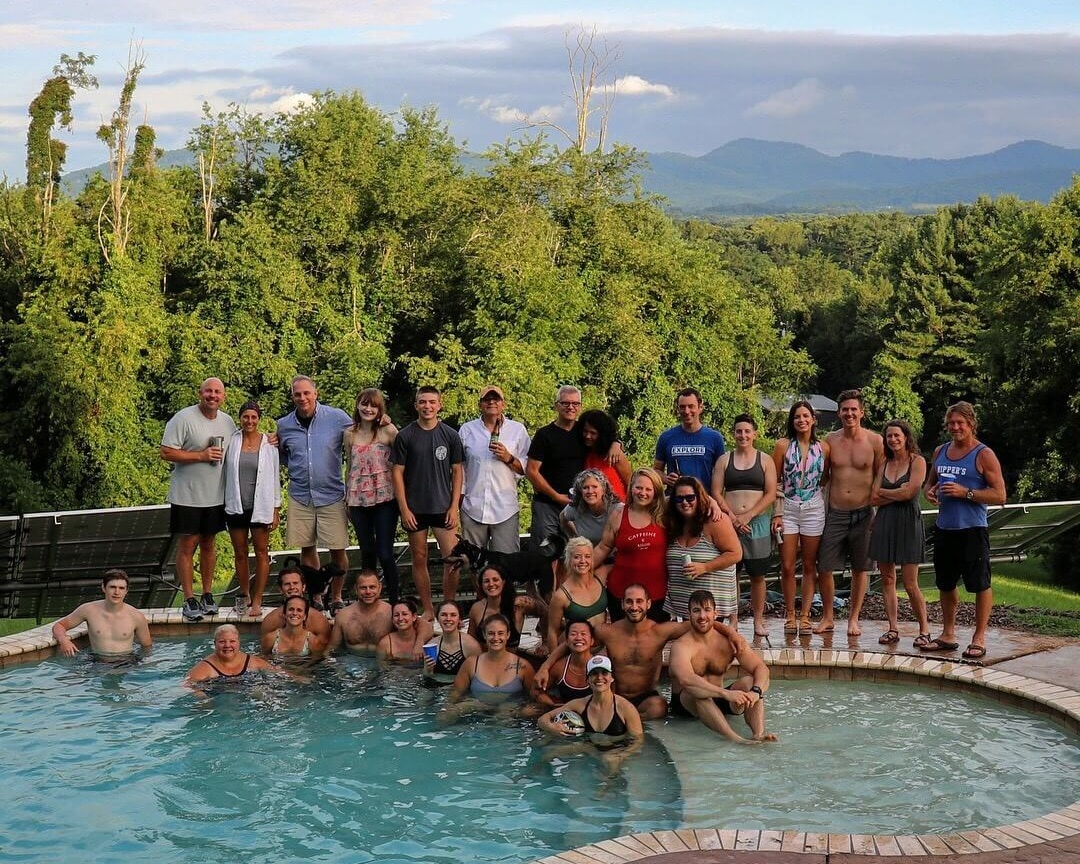 Part of the onsite team at the Strength Ratio pool party summer 2018