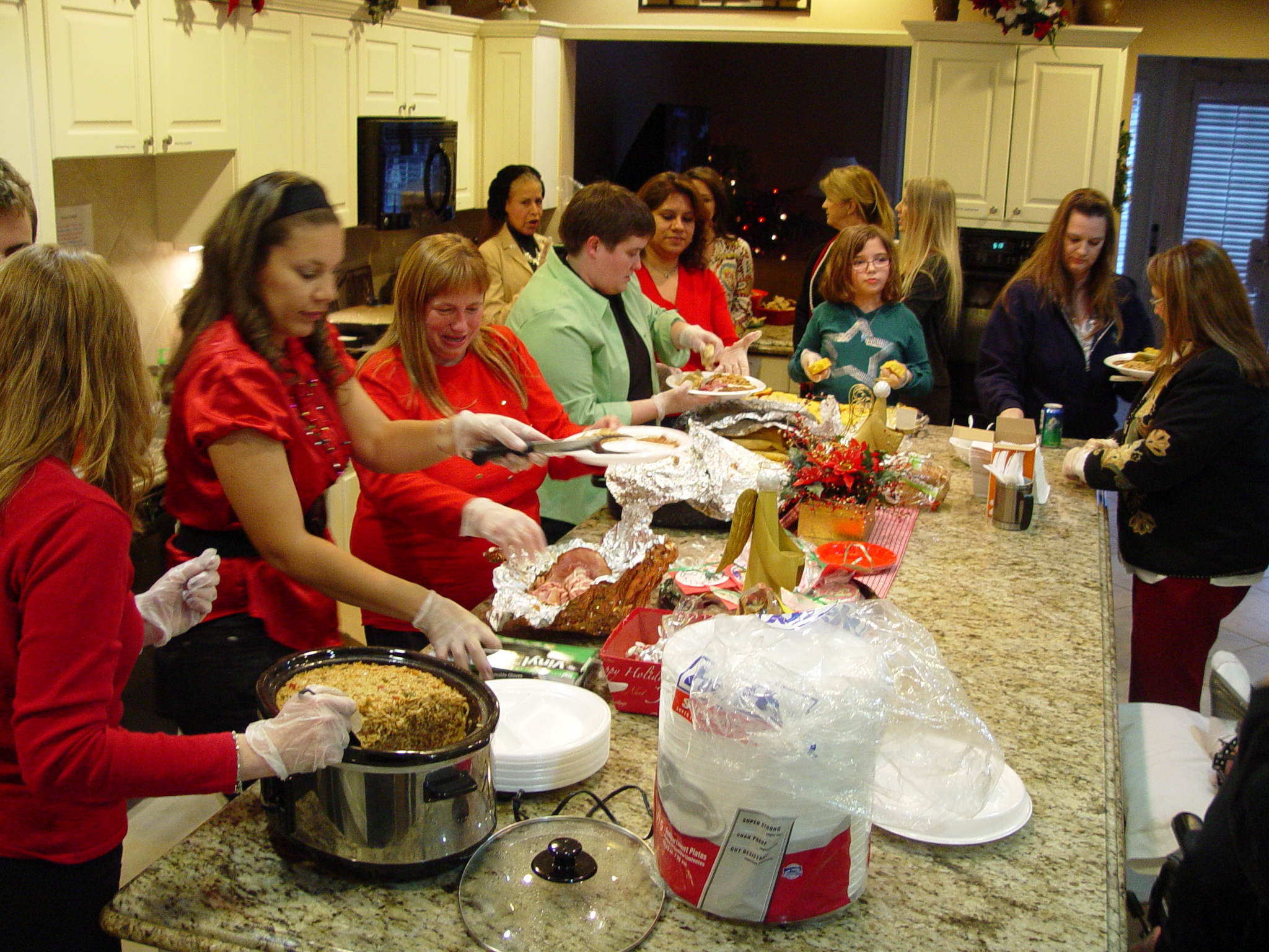 Homemade Dinner for the Wounded Warriors at the Fisher's House.      (2012)