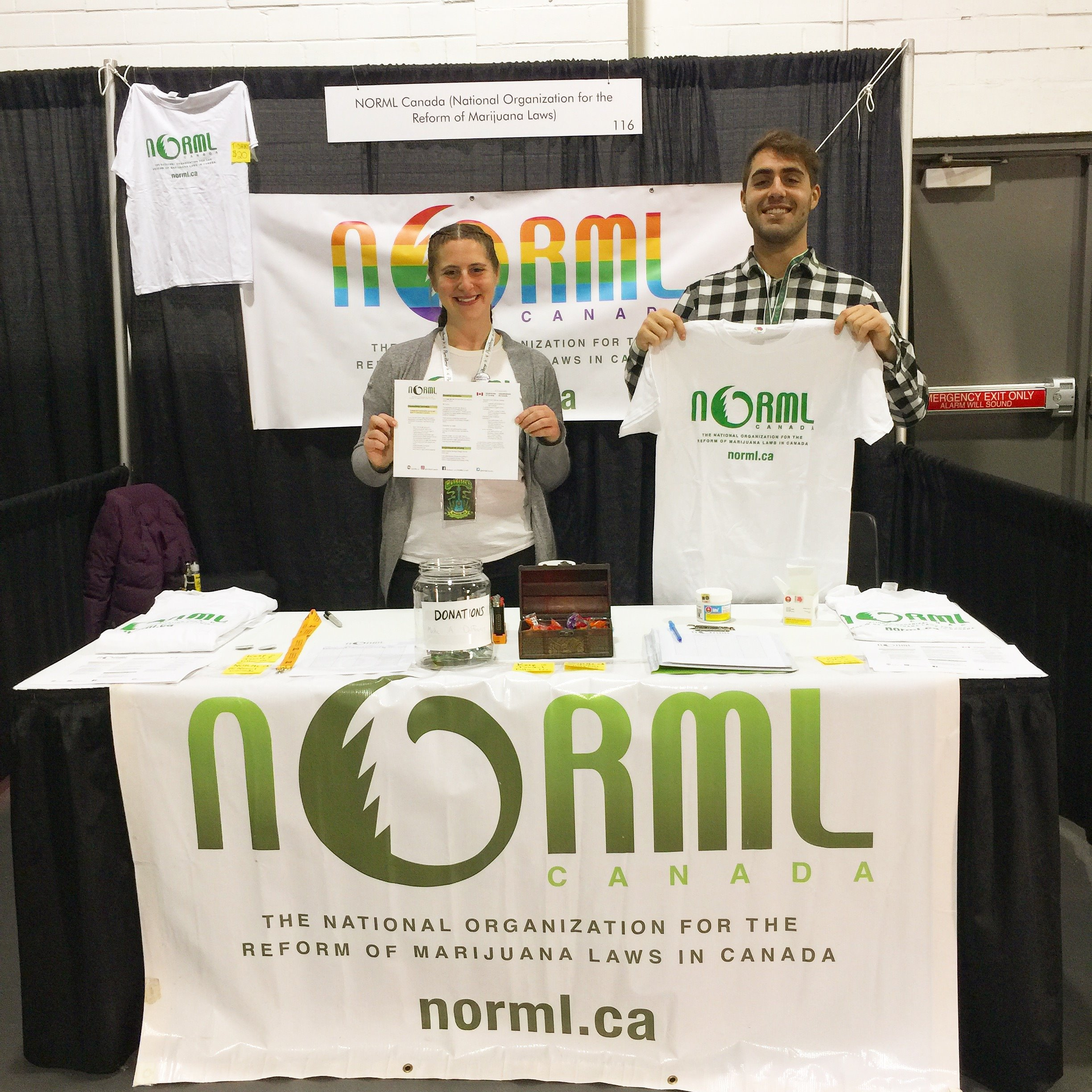 Volunteering for NORML Canada at The Cannabis Living Expo, 2018
