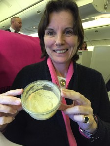 Catherine with the contraband houmous