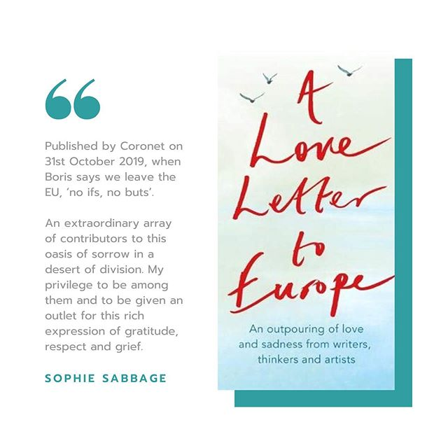 """Breaking News: A Love Letter to Europe  That day when my name is next to J.K. Rowling's on the press release for this incredible book, which my inspired editor (Mark Booth) from Hodder Stoughton is publishing on October 31st - when we are scheduled to leave the EU.  That is yet to be seen, but this collection of writing from a wide array of passionate, authentic, piercingly eloquent talent is something I am beyond proud to have contributed to. An oasis of sorrow in this desert of division. Onjali Raúf, author of 'The Boy at the Back of the Class', describes it thus: """"As the United Kingdom stands divided by the fears, hostilities and a heartbreakingly negative view of all that our union with Europe once gifted us, it's crucial that we remember the real and often beautiful impact that being a part of Europe has had on our personal histories and daily lives. This book is a celebration, and a much-needed reminder to all, of what we, and our coming generations, now stand to lose so painfully."""" Proceeds will go to European charities. You can pre-order here. Let's spread the word and help this book go BOOM. Not to fuel more division but to retain some spirit of this peace-keeping union, however imperfect, and to honour the pain that many of us feel so keenly about leaving it.  bit.ly/LoveLetterToEurope"""