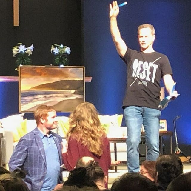 Little did I know that Kirk Cameron's Living Room Reset last Saturday would be a divine appointment with the founder of  the Stork Bus movement, Joe Baker!  The Red Egg ministry and my heart has been to donate profits to fund the second ultrasound van in New York!  #OneEggOneMessageOneLife