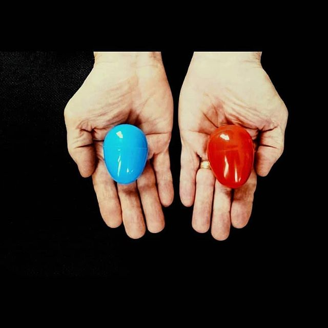 """""""All I'm offering is the truth, nothing more."""" Remember what Morpheus said to Neo in the Matrix? He told him to choose the blue pill or the red pill.  Choose the blue egg, go back to sleep and continue to believe the lie. Choose the red egg, and wake up to God's love and truth. Let's help those in unplanned pregnancies choose life."""