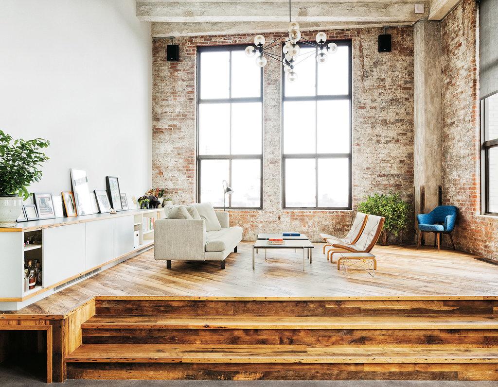 brooklyn loft , upper sitting are