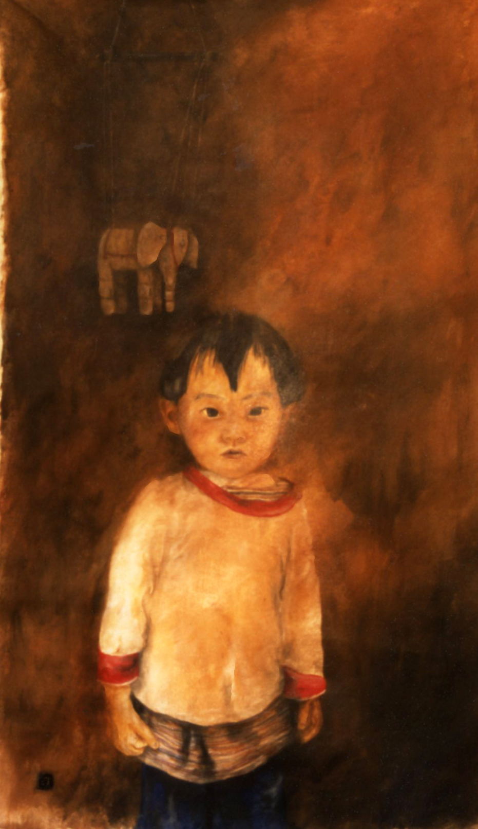 boy and elephant