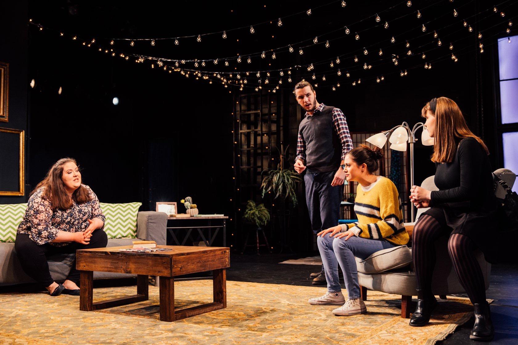 From left: Stanley, Tessa (Emily Combs), Ellen (Kris Bramson), and Diane (Caroline Parker). Spring 2019.