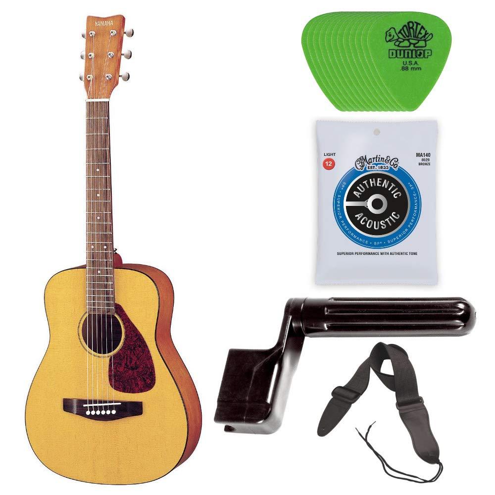 Yamaha Jr1 - 3/4 size - • Yamaha JR1 Acoustic Guitar • CF Martin Guitar Strings • Dunlop .88 Tortex Guitar Picks (Green, 12-Pack) • Guitar String Winder • Guitar Strap