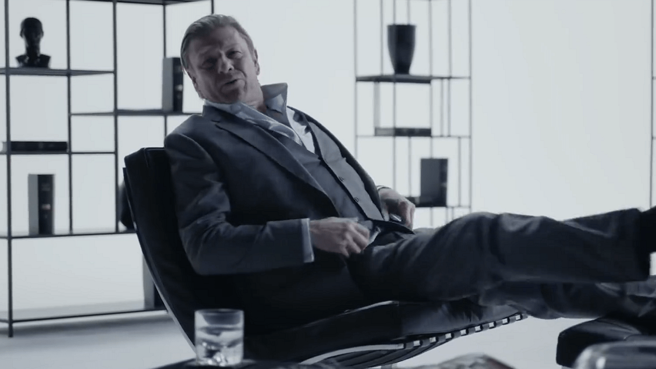 Sean Bean on set of Hitman 2 Elusive Target Production Design by Joshua Hext