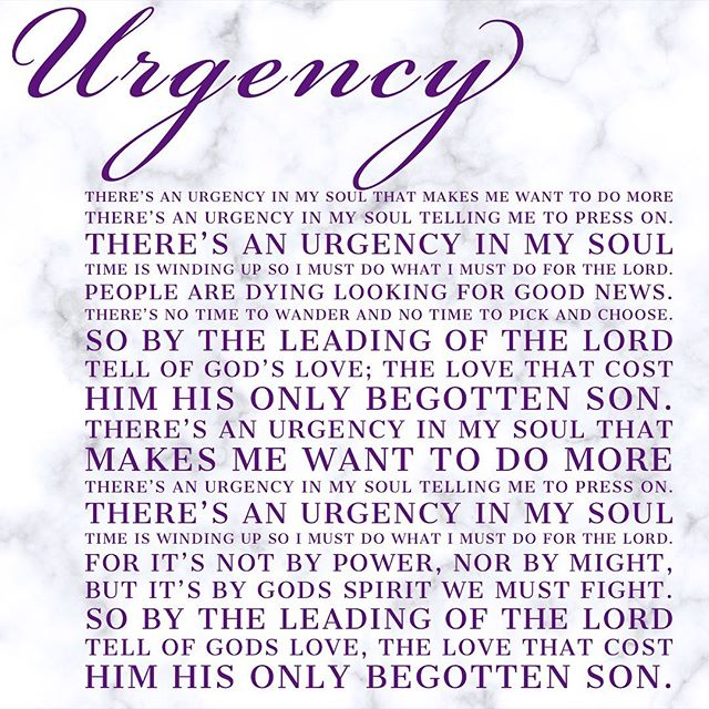 I wrote Urgency in response to the horrific events that occurred 18 years ago on this 9/11!  It was the only answer to the senseless act of hate and it still proves true today.  Lets fight for love. There's an Urgency.  #NeverForget #lyrics #Urgency