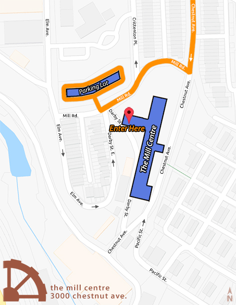 Here is a small map of the building. Please call if you have any questions.