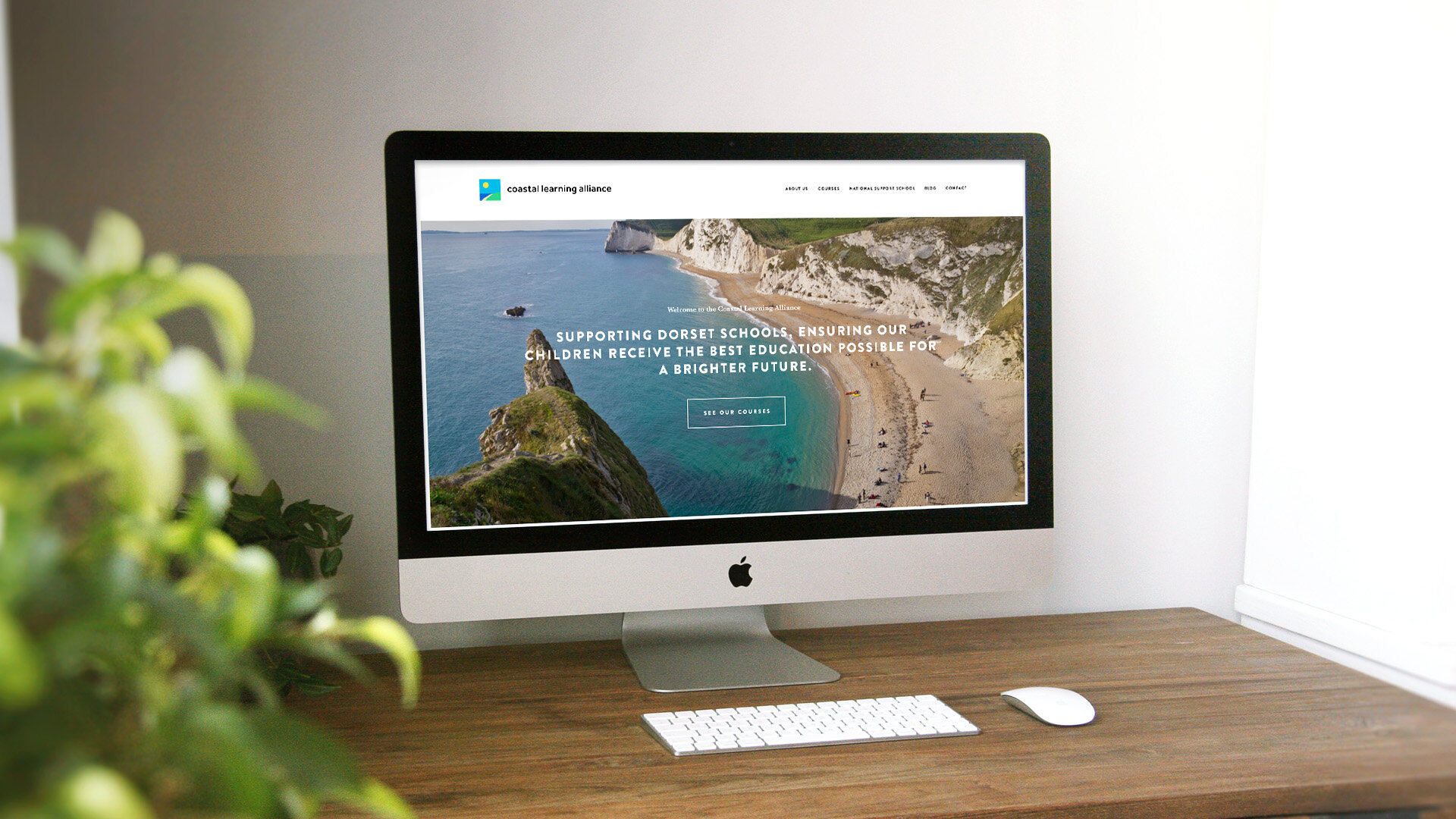"""<strong>Coastal Learning Alliance<br><font color=""""#bababa"""">Introducing a digital experience for Dorset's teachers.</font></strong>"""