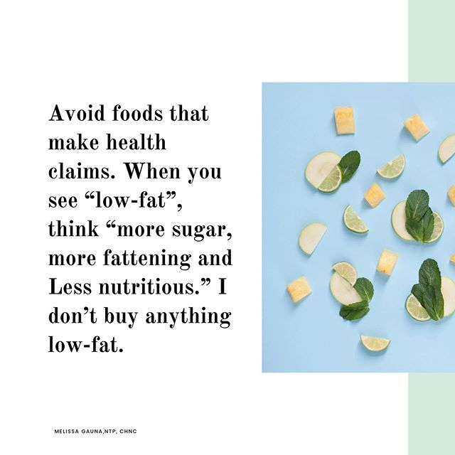 "I won't lie, I've been fooled by food labels. I didn't know better, I assumed the food industry knew better. But they don't. And they don't care to fool ya 😐 . When a food product comes with a health claim, usually it is processed & real nutrients have been stripped away and replaced with synthetic versions, think ""fortified."" Stick to real, whole foods that don't require labels as much as you can. 👩🏻‍🌾 . And if you're confused about the ""low-fat"" labels and why I avoid them, let's chat ☝🏼 . #wholefoods #realfood #jerf #deceptivemarketing #health #wellness #lowfat #nutritionist #holisticnutrition #healthcoach #foodlabels #wholefoods #nutritioncoach #nutritiontherapy #foodclaims #foodlover"