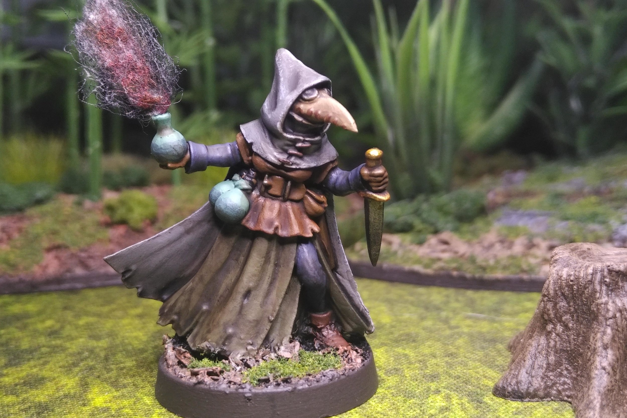 Sister Hazel, Plague Doctor - Frostgrave Wizard Apprentice  Reaper Miniatures 07017 sculpted by bobby Jackson