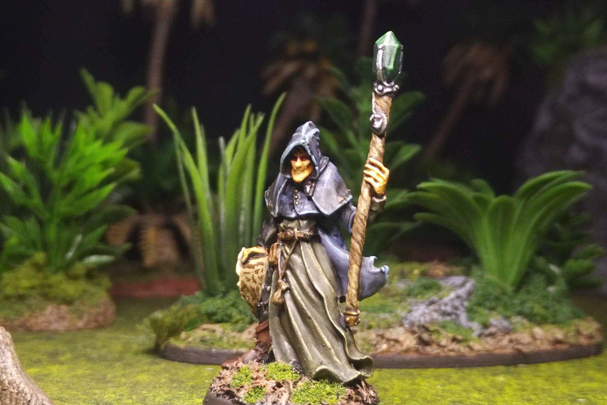 Satheris, Elven Warlock - Frostgrave Elementalist Wizard  Reaper Miniatures 03381 Sculpted by Bobby Jackson