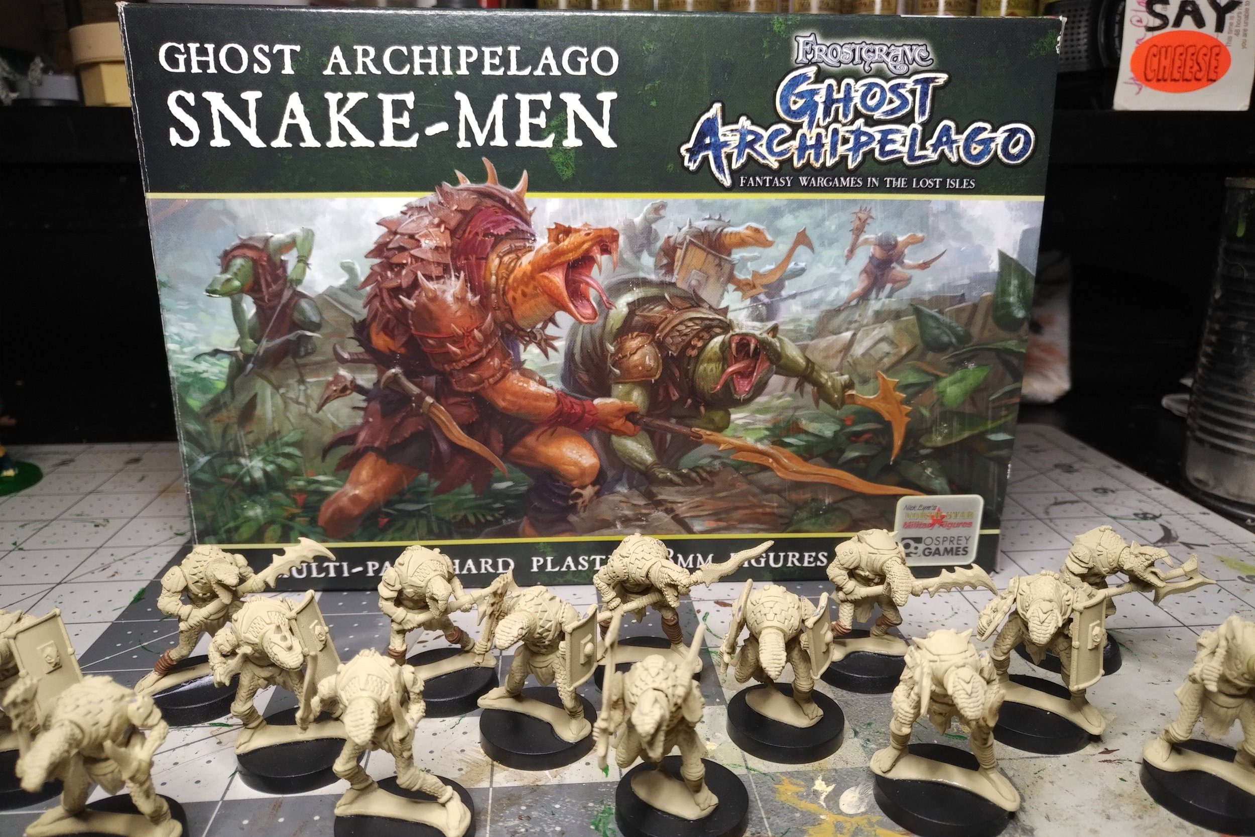 Frostgrave: Ghost Archipelago Snakemen - Khavith, Ssudai, and the Nest of Yig