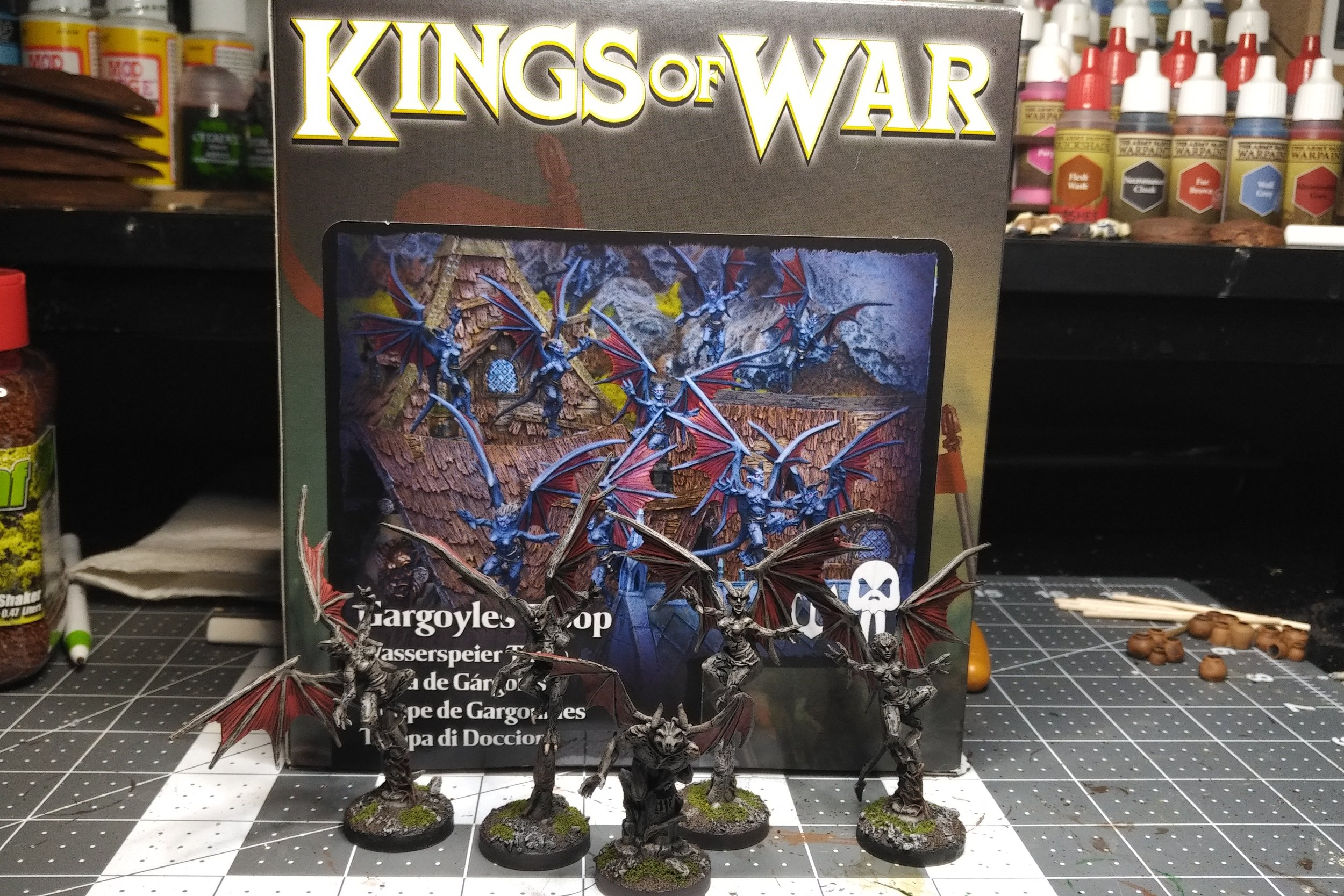 Kings of War: Gargoyles - Ba'su'su the Vile and Gargoyle Troop
