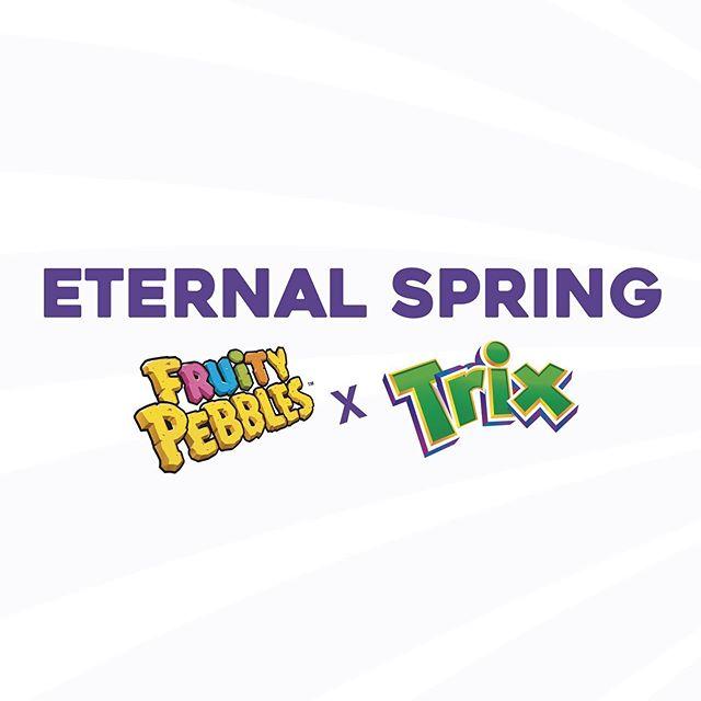 El sabor del mes! Para esta edición de #feriadelasflores hemos creado un cereal exclusivo con Fruity Pebbles x Trix y Flores de verdad comestibles ! 🌺💐🌸