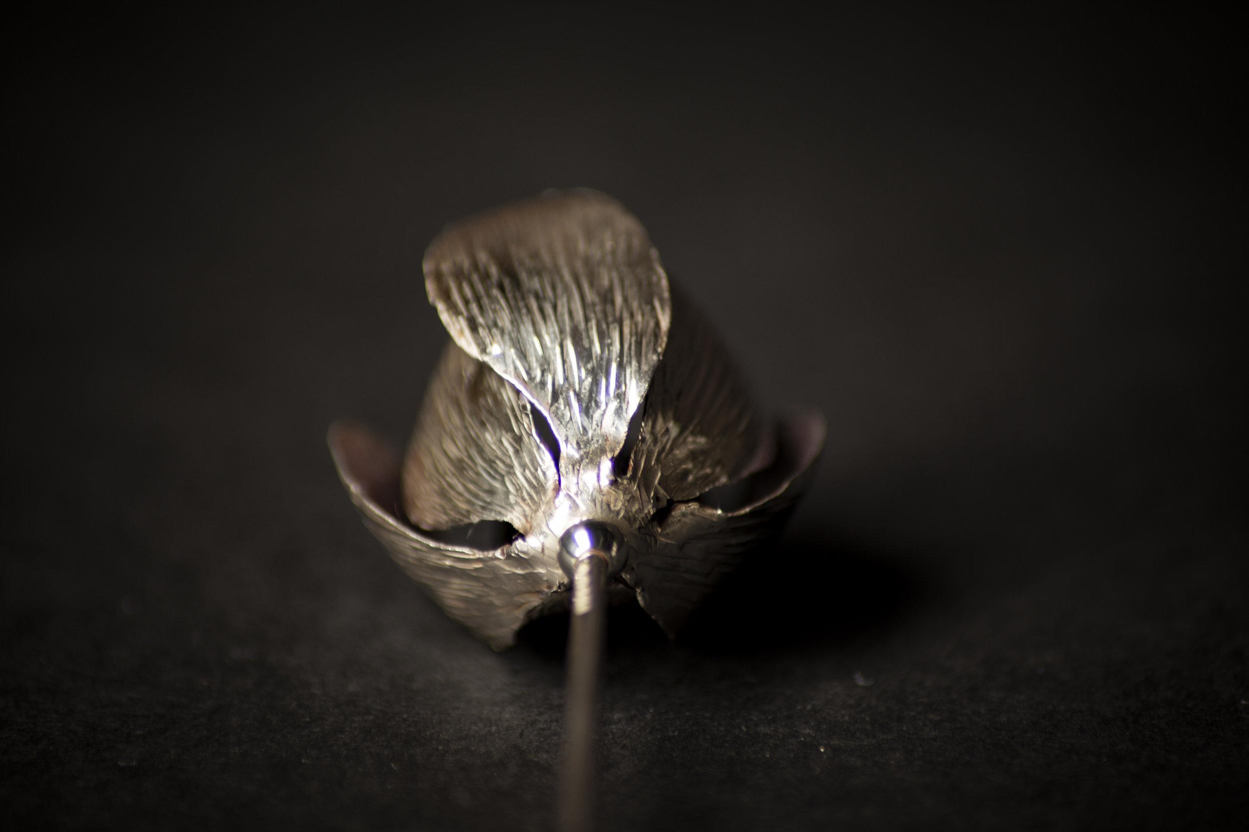 Purple Patinated Silver Crocus