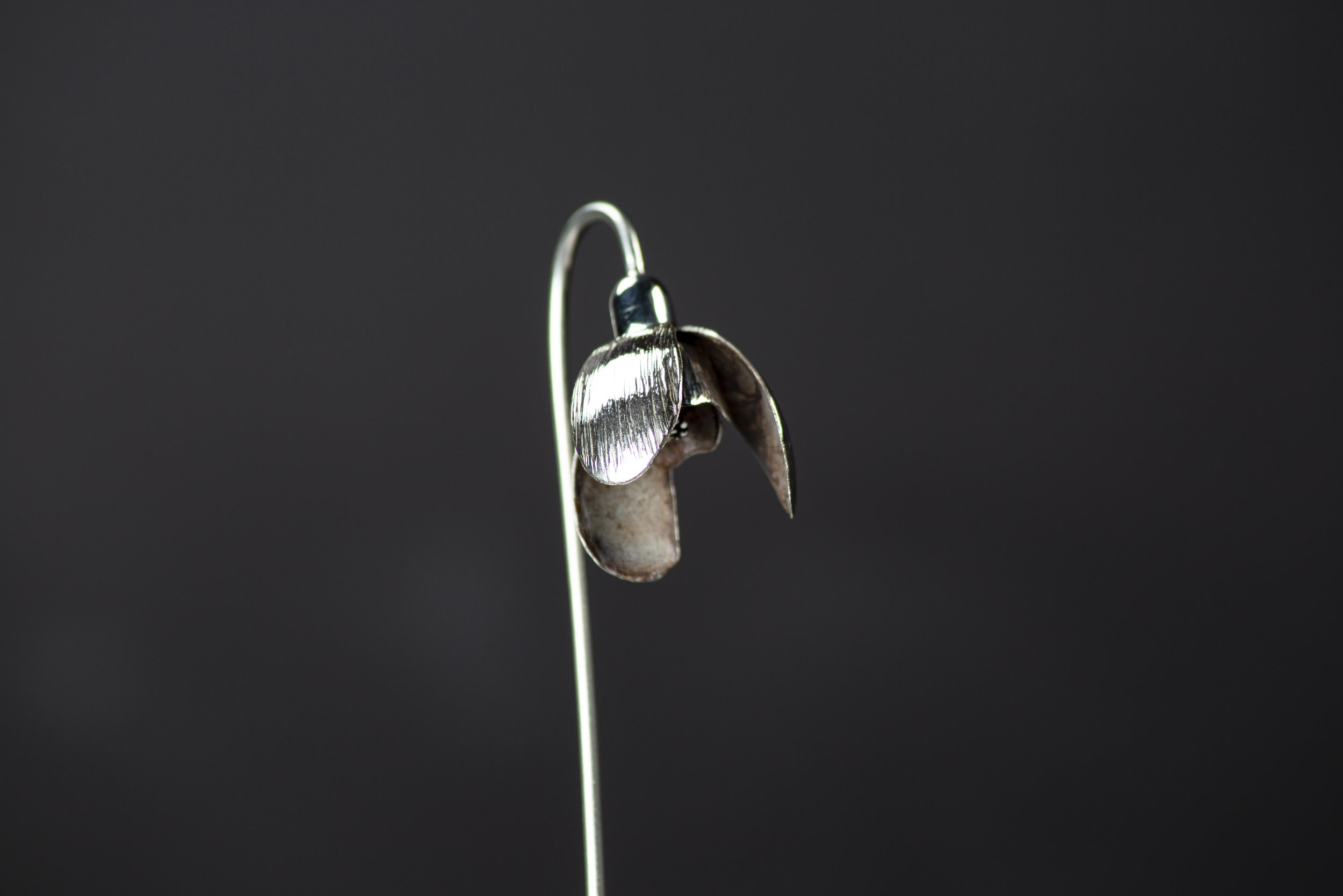 Silver Patinated Snowdrop