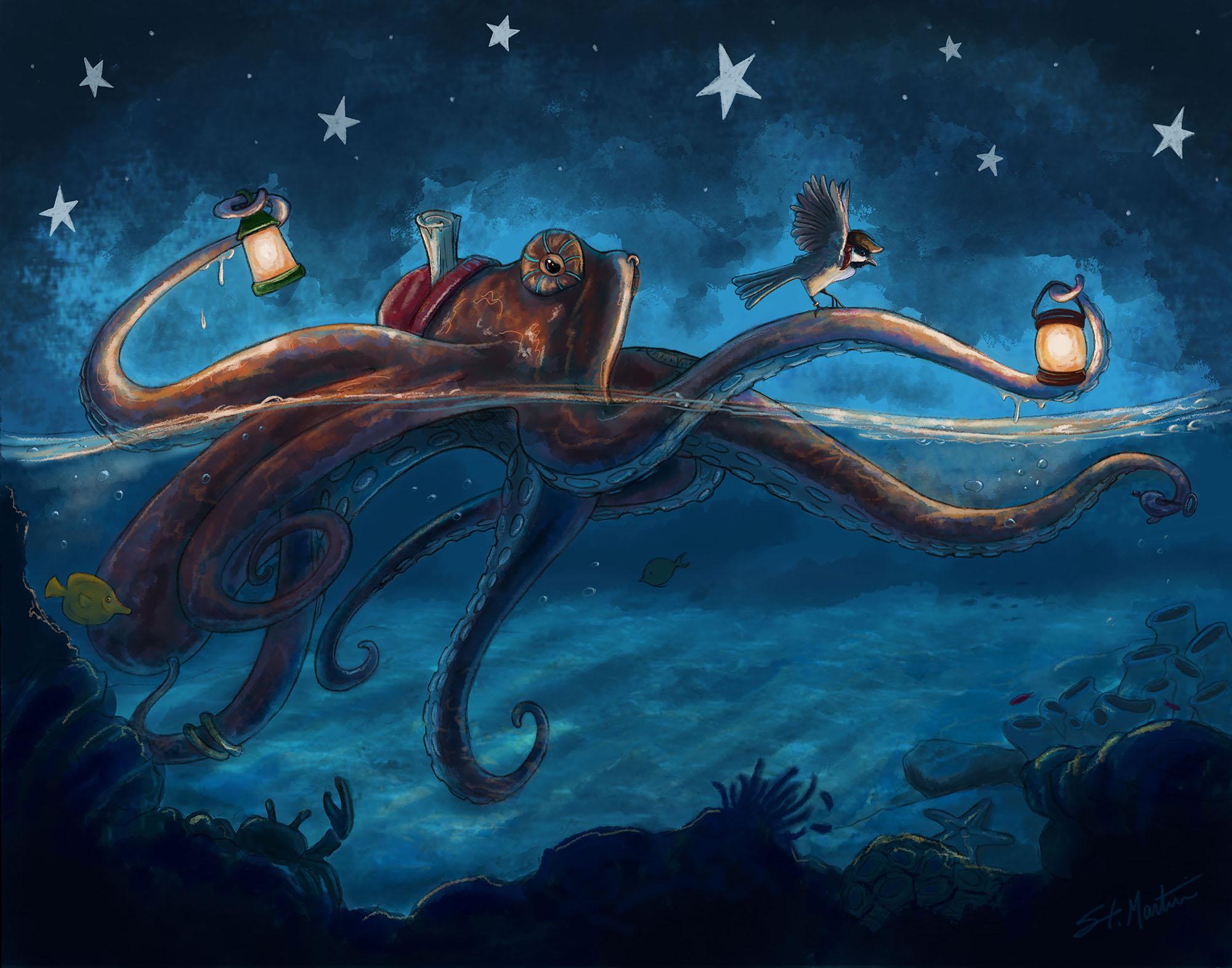 Captain Black Beard Chickadee  and Octopus - Final Small.jpg