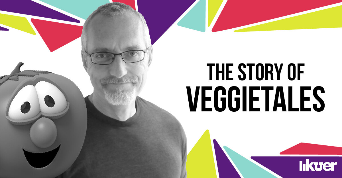 VeggieTales ' creator Phil Vischer, who also voices Bob the Tomato. (Illustration by Renee Bright. Images courtesy of DreamWorks.)